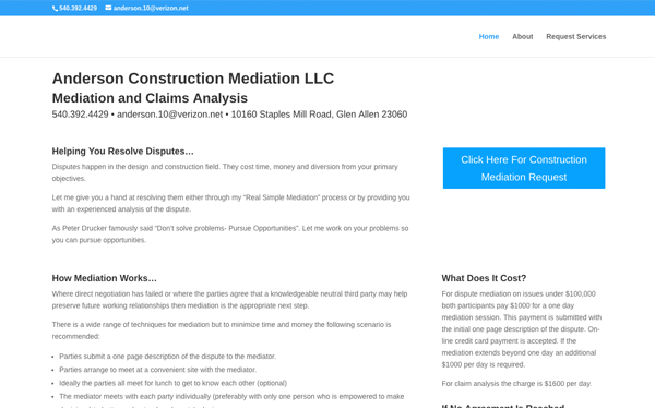 Anderson Construction Mediation